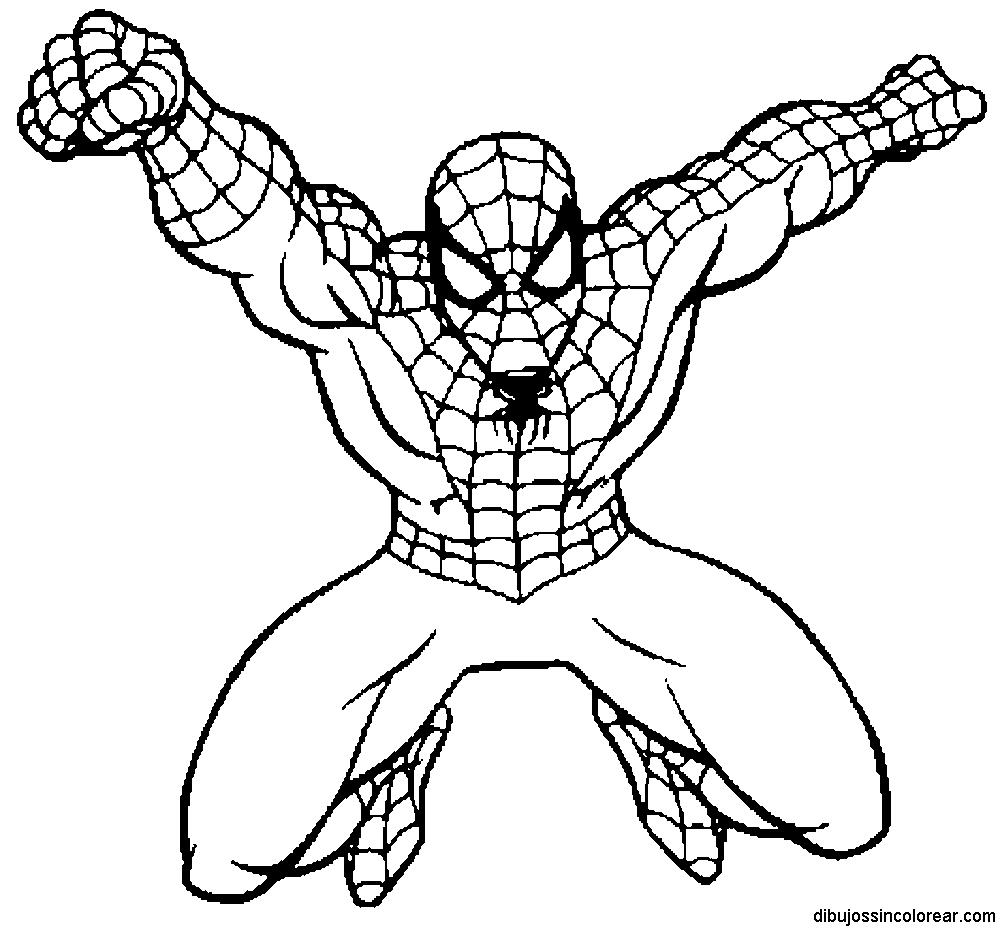 Fotos De Spiderman Para Dibujar On Log Wall