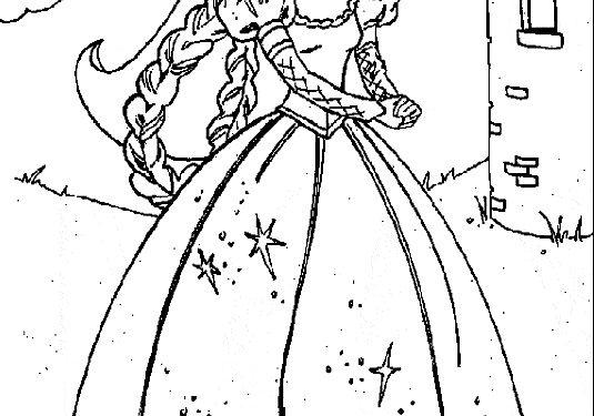 Dibujos Para Colorear De Princesas Disney Para Imprimir On Log Wall