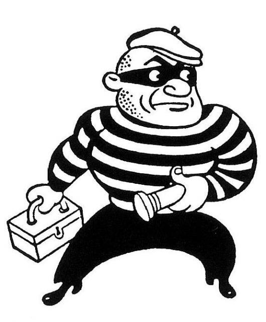 Resultado de imagen de imagenes de ladron para colorear