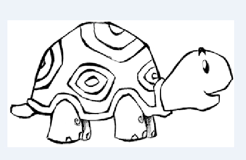 Tortuga Animada Para Dibujar Facil On Log Wall