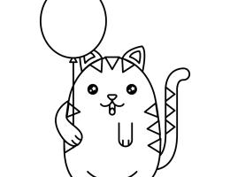 Dibujos Para Colorear De Perros Y Gatos Kawaii On Log Wall