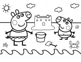 Dibujos Para Colorear De Peppa Pig Para Imprimir On Log Wall