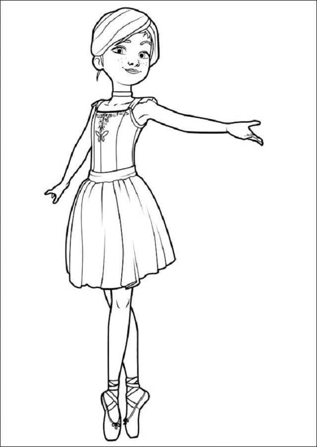 dibujos para colorear ballerina  dibujosparacolorear.eu