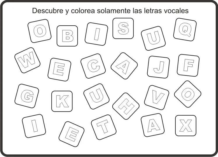 Vocales Con Dibujos Para Colorear E Imprimir On Log Wall