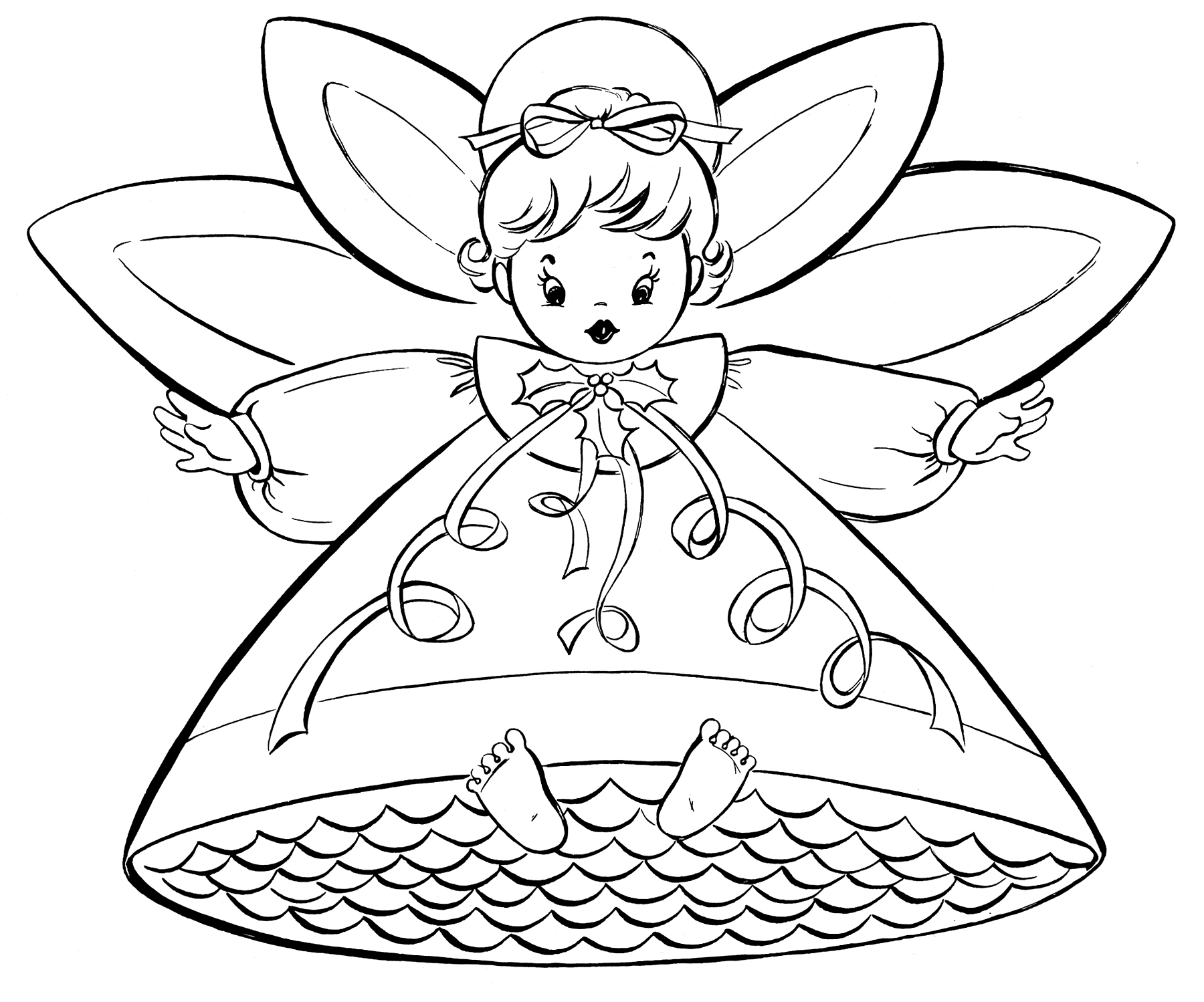 Dibujos De Angelitos De Navidad. Affordable Interesting With Dibujos ...