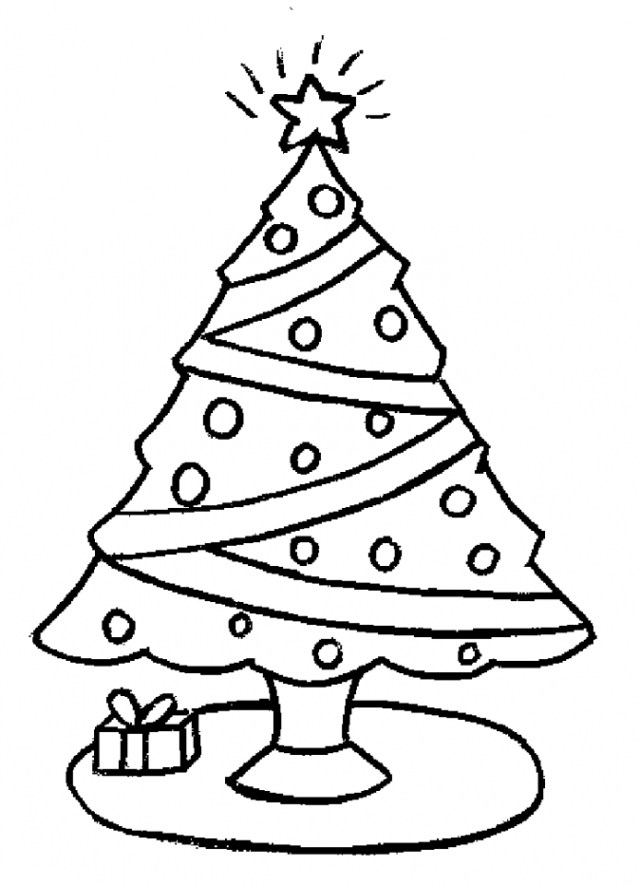 Perfecto Página Para Colorear De árbol De Navidad Para Colorear ...