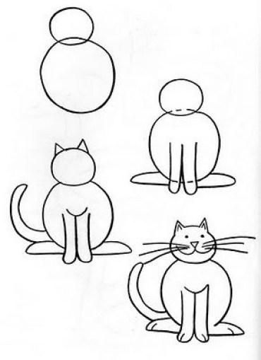 Como dibujar facil un gato paso a paso