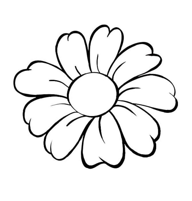 Dibujos faciles  de flores para niños