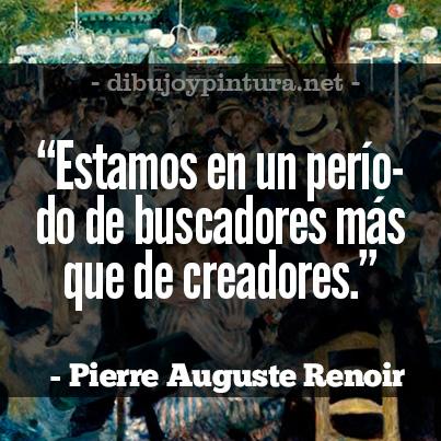 Imagenes con citas de Renoir
