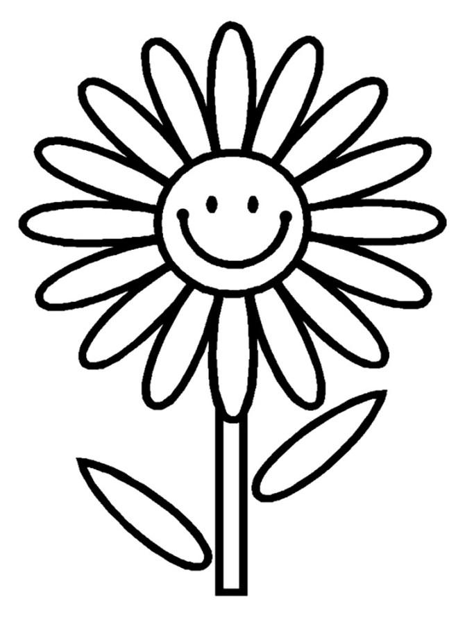 Imagenes para colorear de flores y mariposas para niños