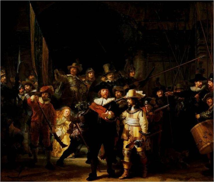 La Guardia Nocturna Obra Maestra De Rembrandt
