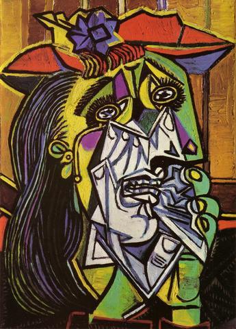 La mujer que llora obra de Pablo Picasso Artísta Contemporaneo