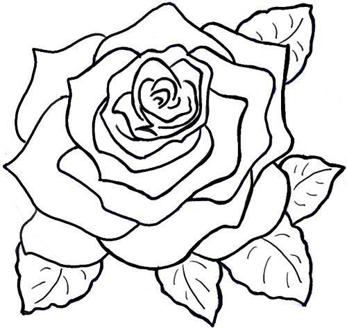 Como Dibujar Una Rosa Fácil Y Bonita