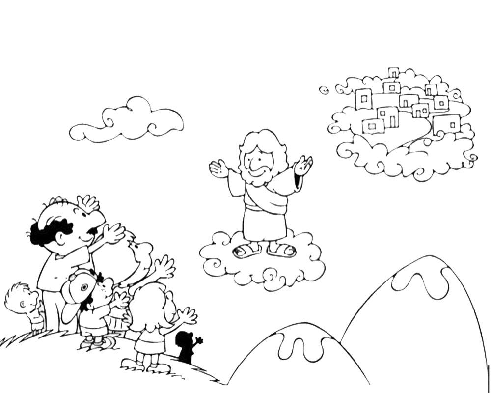 Dibujos animados de la Ascensión de Jesúspara colorear