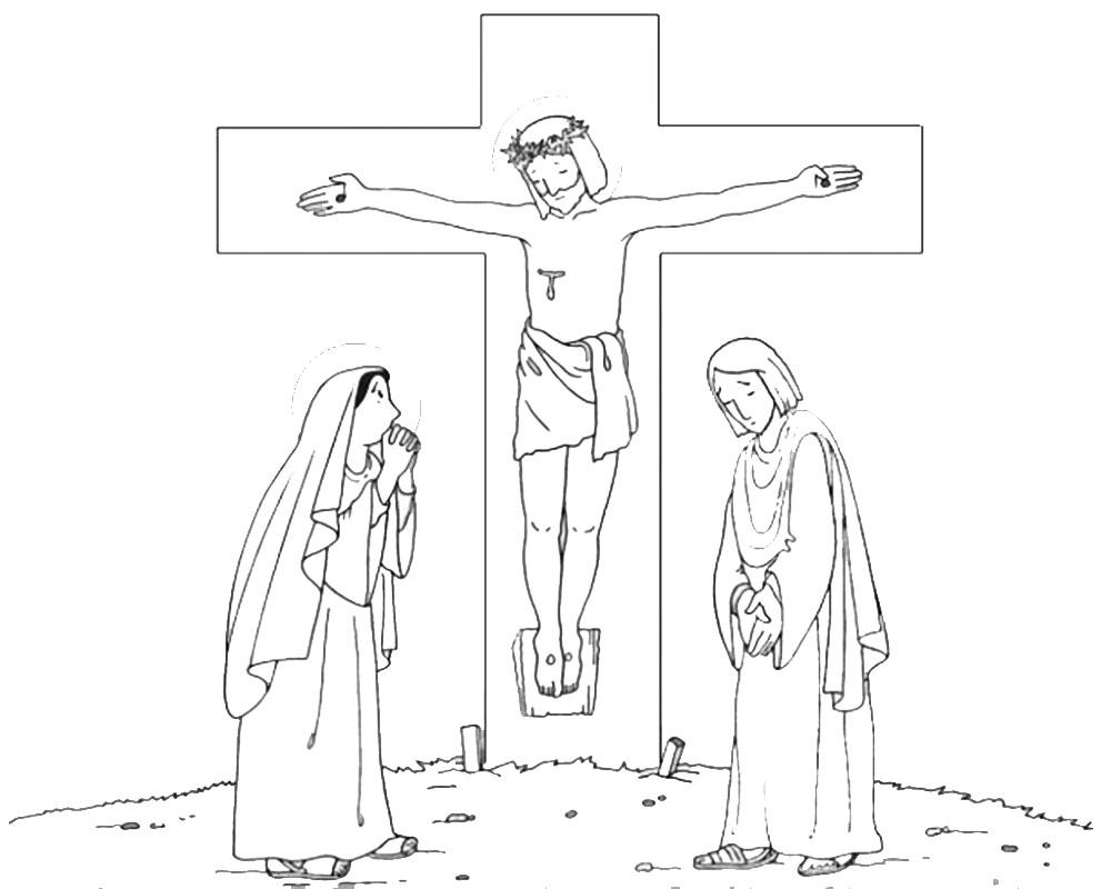 Atractivo Colorear La Página De Jesús En La Cruz Elaboración ...