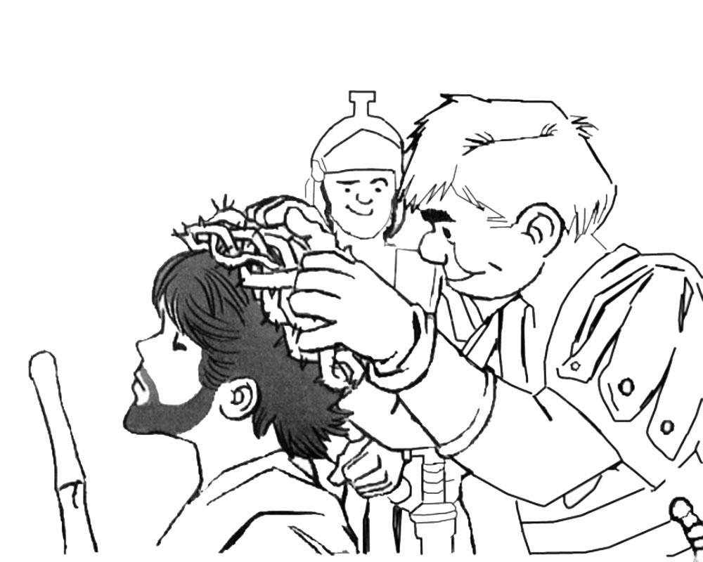 Dibujos de la coronación de espinas para colorear