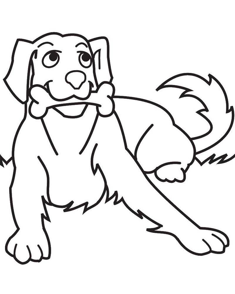 Dibujos de perros para colorear faciles