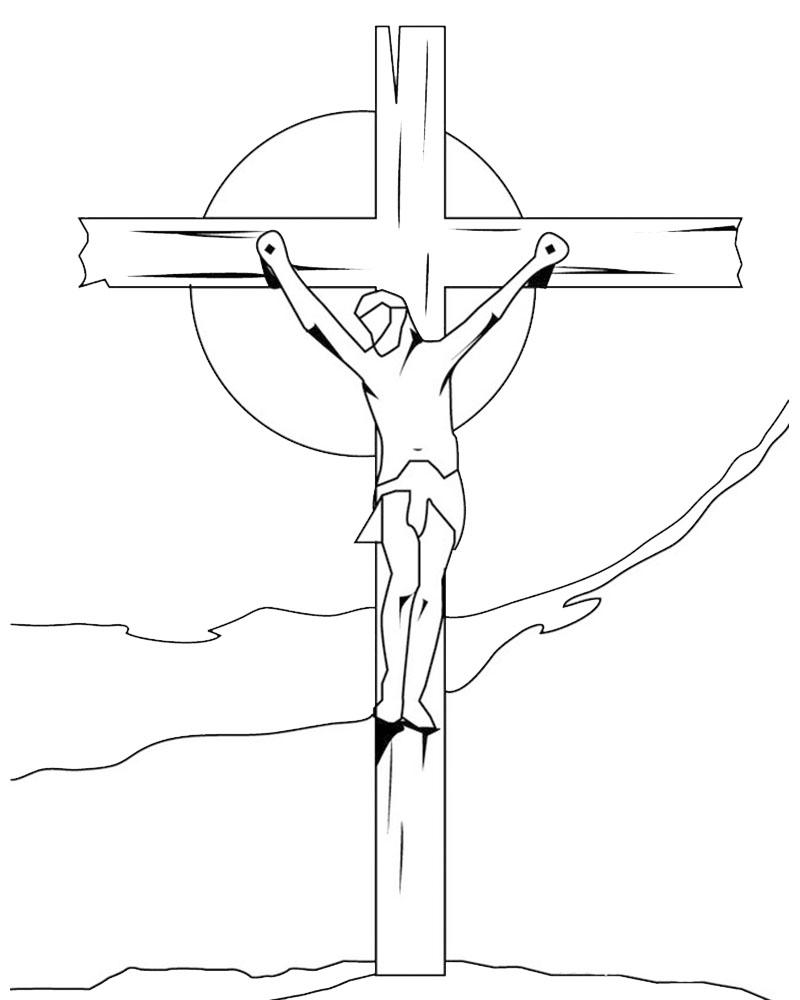 Hermosa Colorear La Cruz Católica Ilustración - Ideas Para Colorear ...