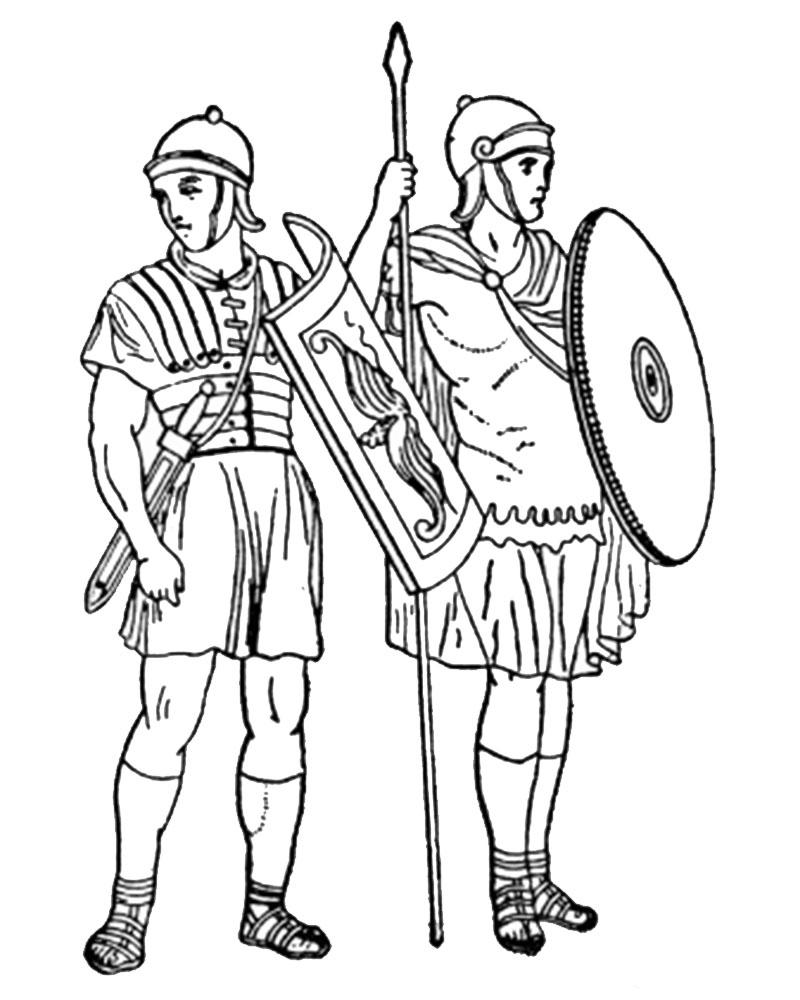 Imagenes de Semana Santa para pintar de los guardias romanos