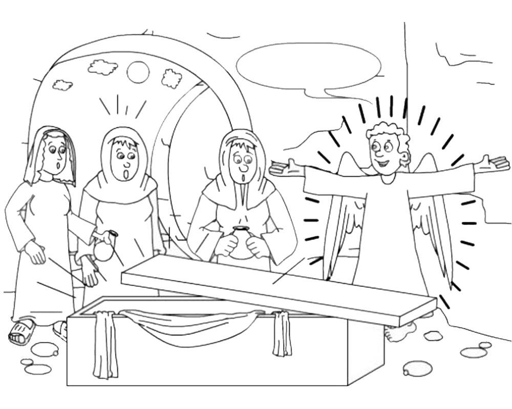 Imagenes de la Resurreccion de Jesus para Semana Santa colorear y pintar