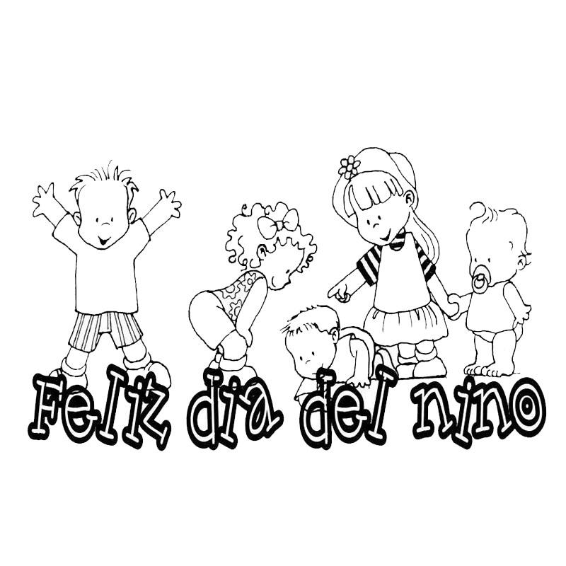 Imagenes de dibujos infantiles para colorear el día del niño