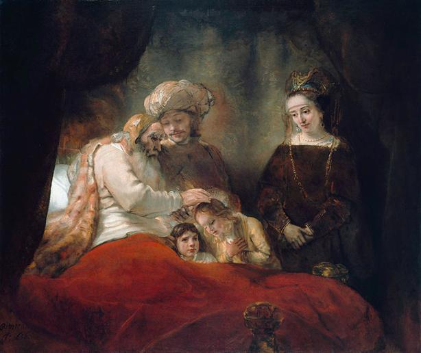 Rembrant y su Obra Jacob Bendiciendo a los Hijos de José