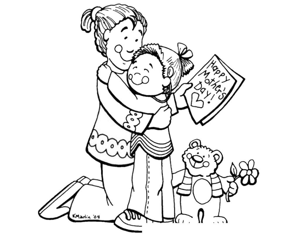 Dibujos para pintar para el día de la madre