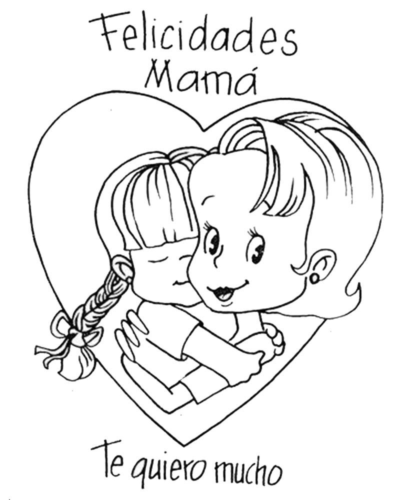 Dibujos Infantiles Día De La Madre Para Colorear
