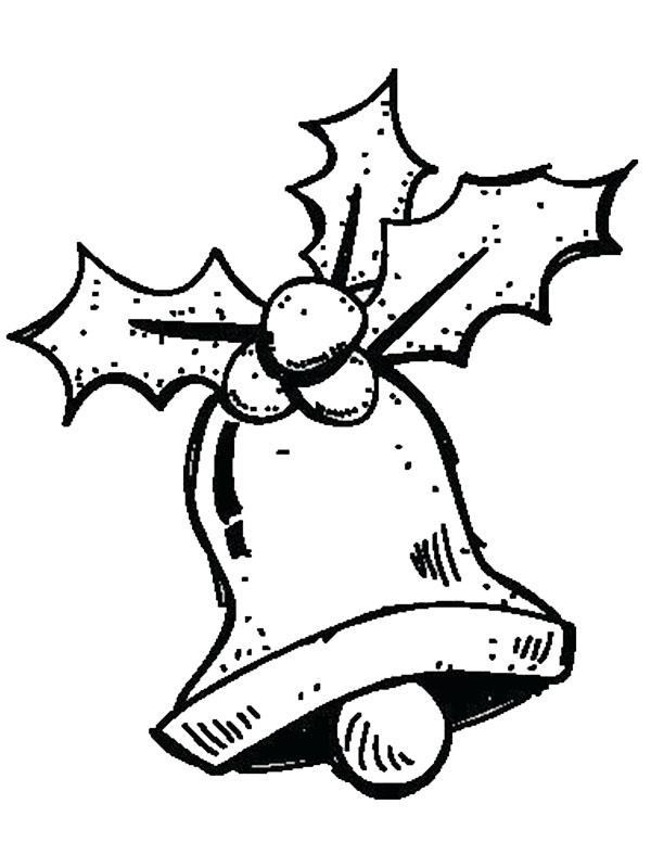 Dibujos Para Tarjetas De Navidad Para Ninos.Dibujos Faciles Para Ninos De Campanas De Navidad Para Colorear