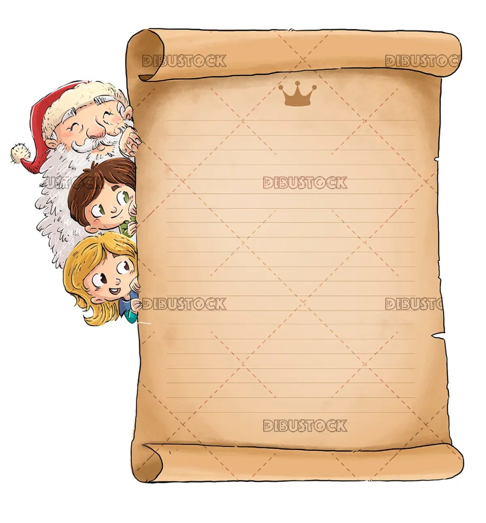 Letter for santa claus at Christmas