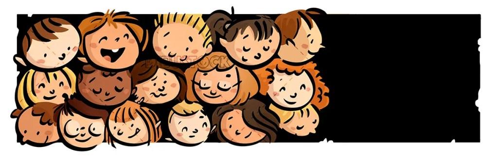 faces of happy children. backgroundjpg
