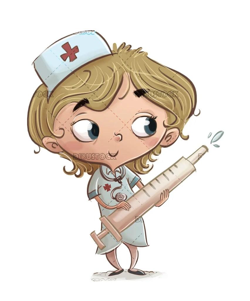 girl in nurse costume