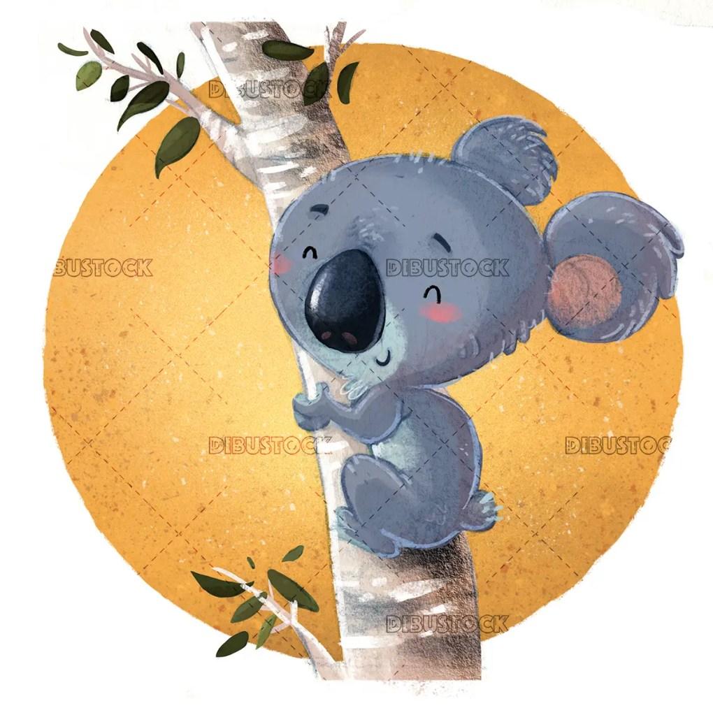 koala en un arbol