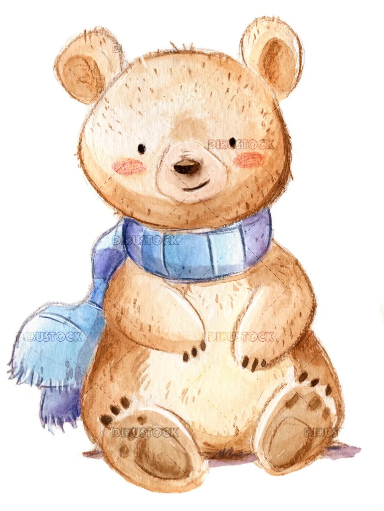 Bear with scarf
