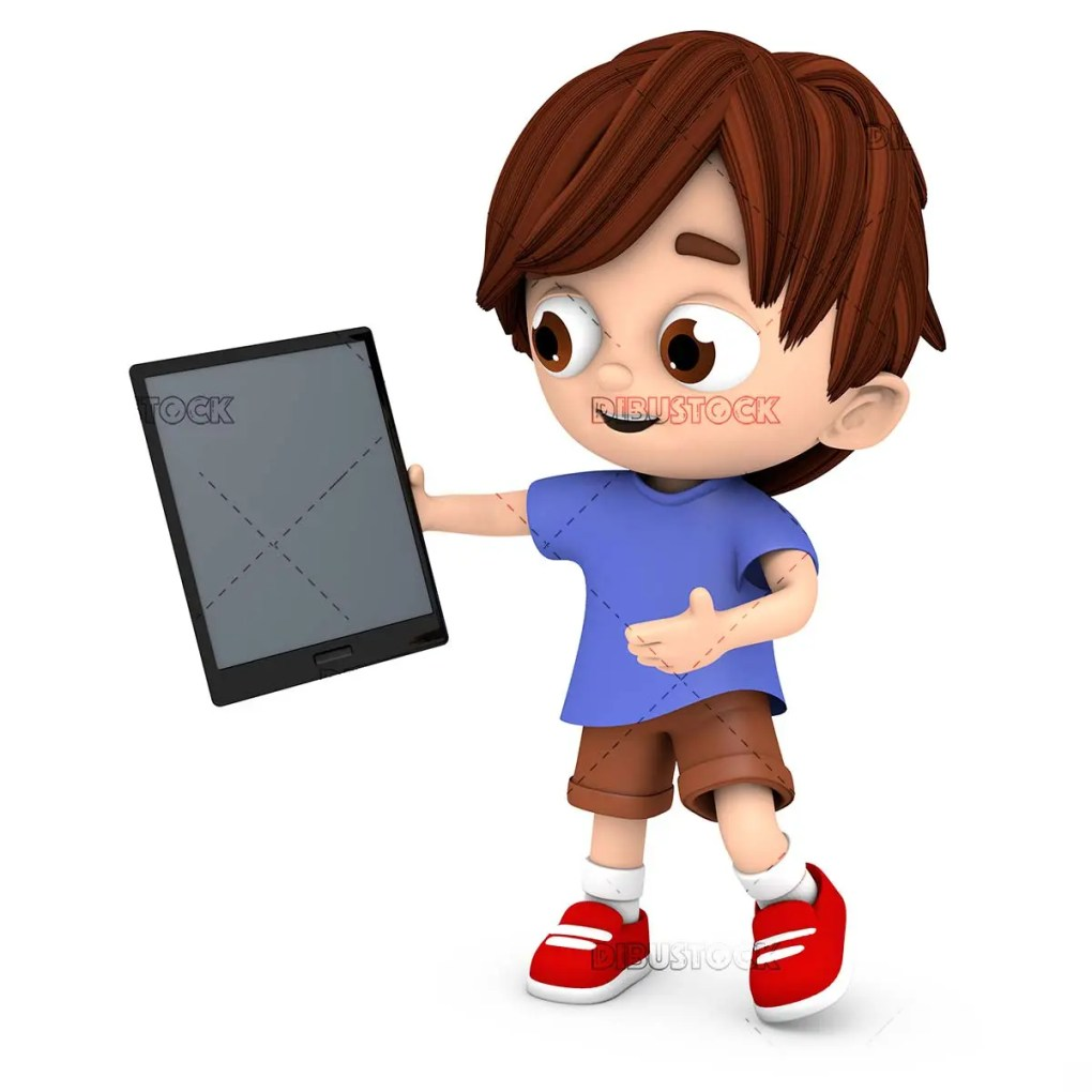 Child with a tablet or computer