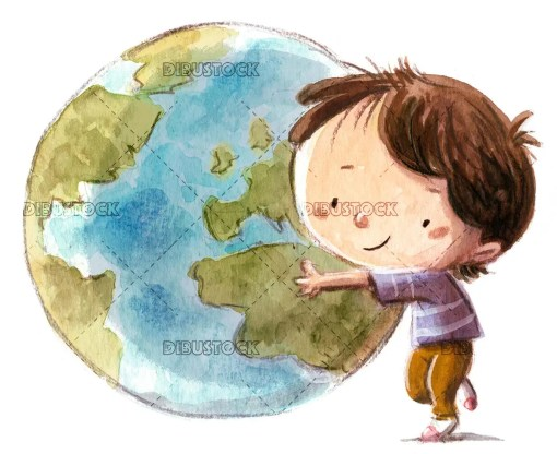 Child with the world ball