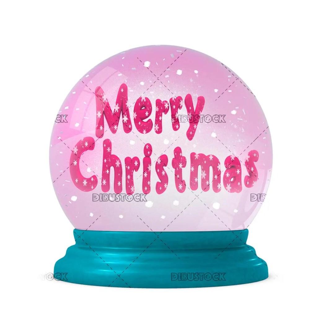 Crystal ball congratulating Christmas