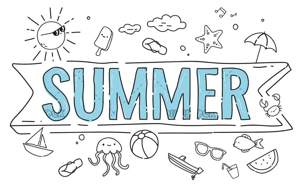 Summer concepts with many illustrations