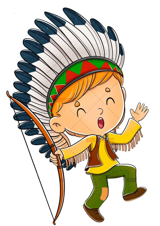 boy dressed as Indian