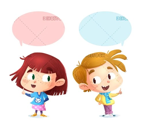 boy and girl talking to each other