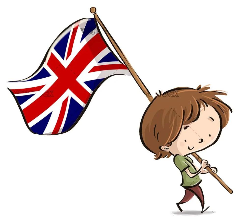 boy with britain flag