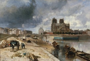 Jongkind-Notre Dame de Paris vue du quai de la tournelle