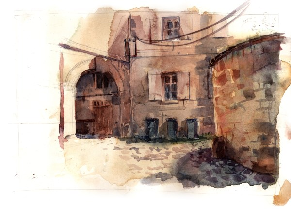 croquis passage de l'abbaye