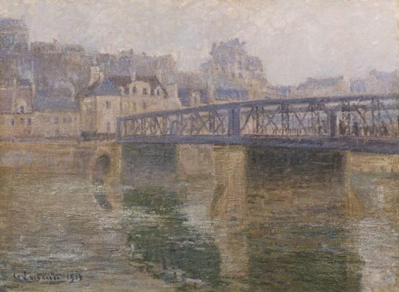 Gustave Loiseau - Le pont de fer Pontoise