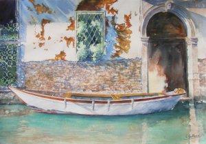 l'atelier / expo d'aquarelle de Véronique Poulleau