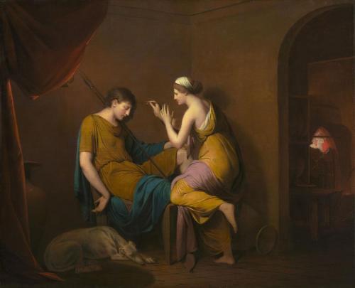 Joseph Wright of Derby. The Corinthian Maid. c.1782
