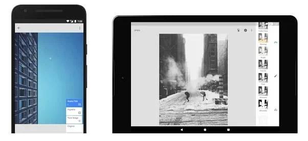 Tela app Snapseed - Dica App do dia