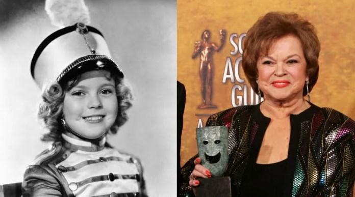O Screen Actors Guild presenteou a Shirley Temple com o prêmio pelo conjunto de sua obra