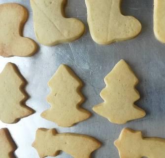 Biscoito Amanteigado - Decorados: tema Natal