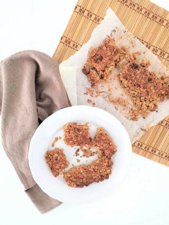 Barras/granola maçã e chia